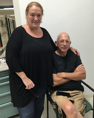 Jeffrey Weinstock and his wife, Elizabeth, both grateful for the support they received at the Key West VA Outpatient Clinic